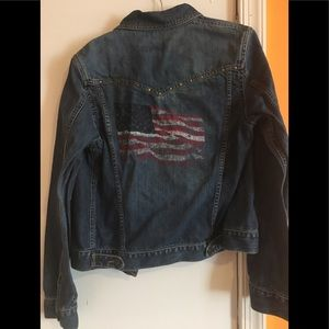 Abercrombie Denim Jean Jacket w/ American Flag